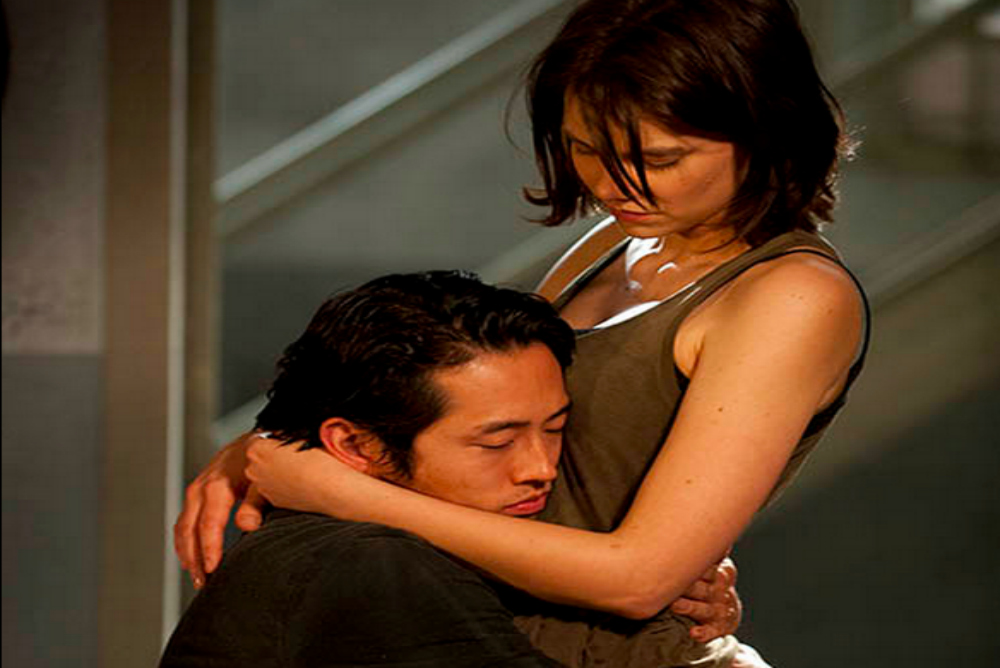 Glenn and (now pregnant) Maggie.