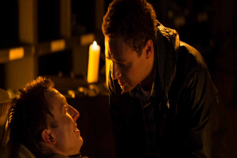Aaron's introduction left no doubt as to his sexuality but after one controversial kiss, the relationship became more implicit than explicit
