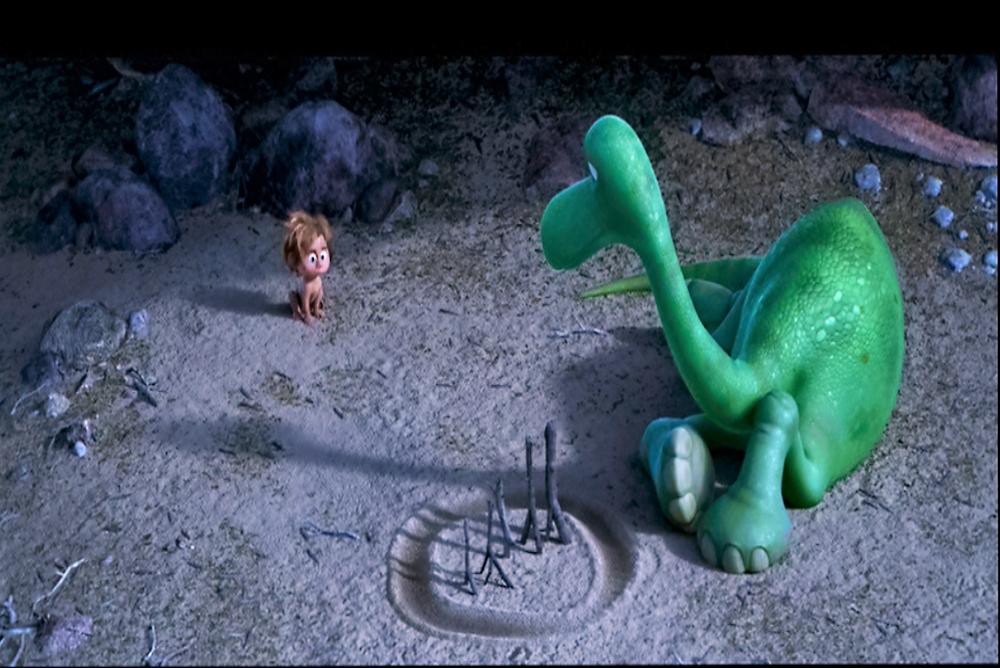 2. The Good Dinosaur, Arlo draws a circle