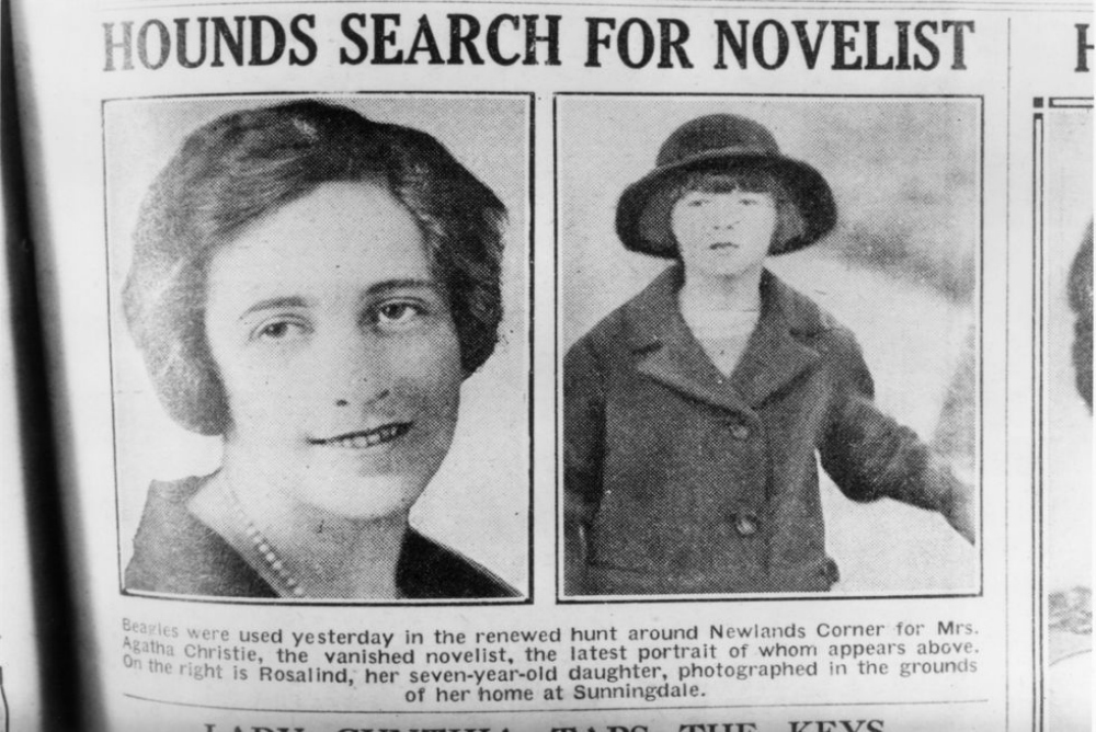 6. Agatha Christie disappeared
