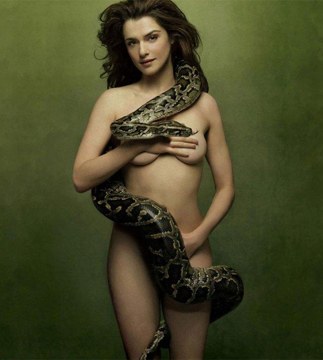 Rachel Weisz and Serpent Tempt Man to Sin.