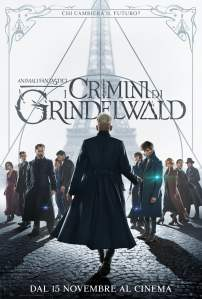 "Poster for the movie ""Animali Fantastici: I crimini di Grindelwald"""