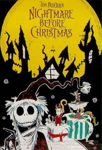 "Poster for the movie ""Nightmare Before Christmas"""