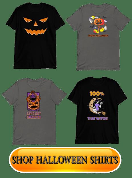 horror movies hub halloween t shirts