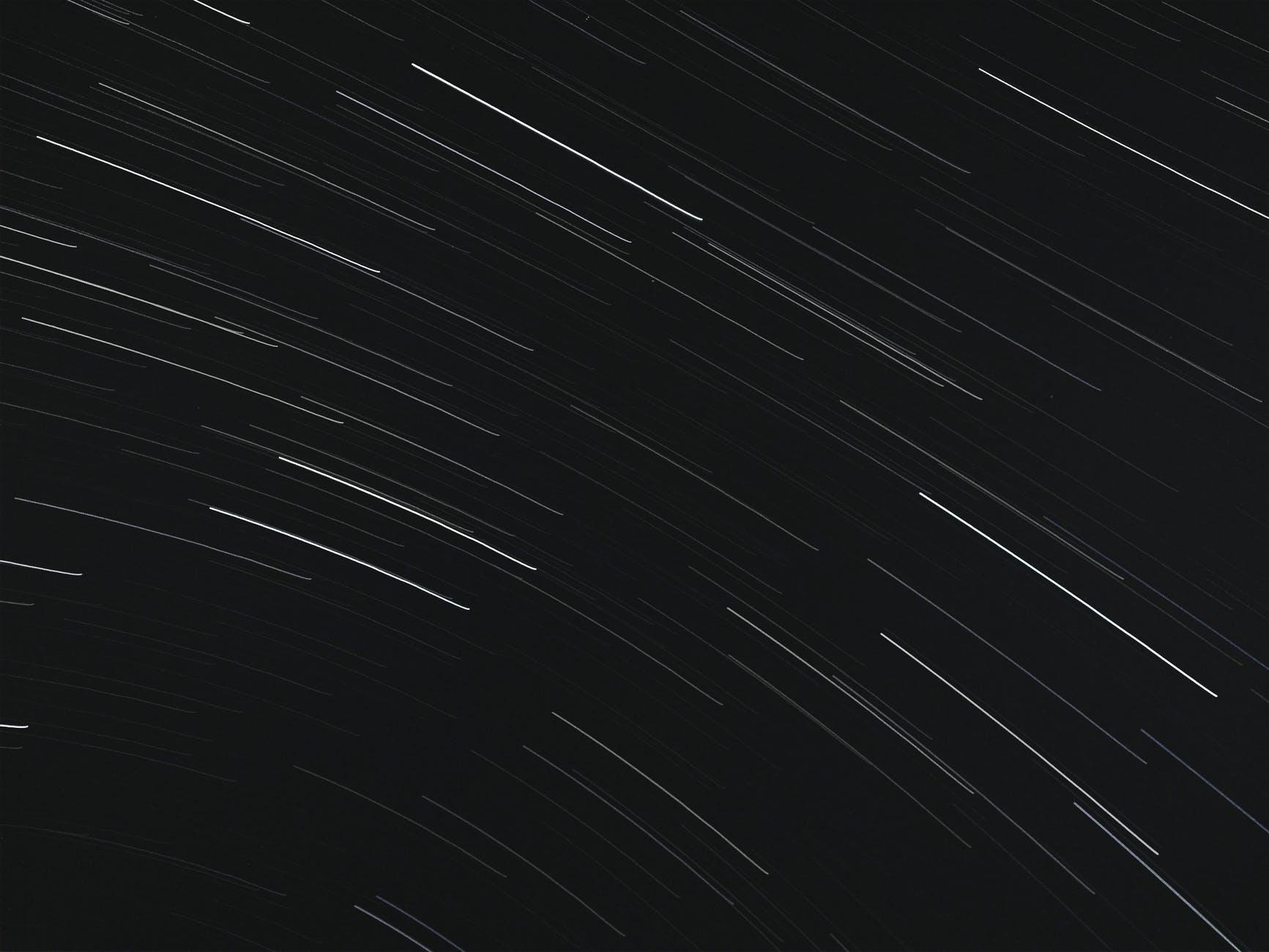 dark night sky with bright stars