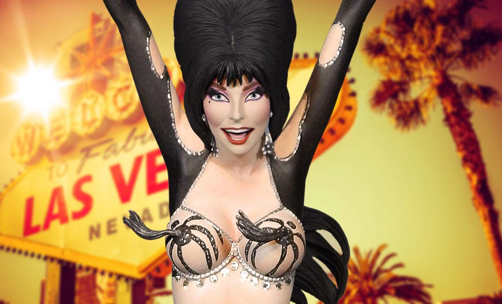 Sideshow Is Betting Big On A Busty Vegas Themed Elvira Bust!