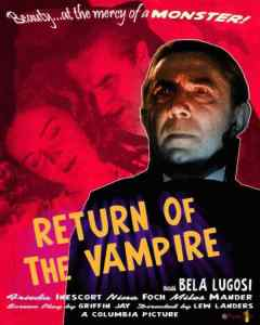Return of the Vampire movie poster