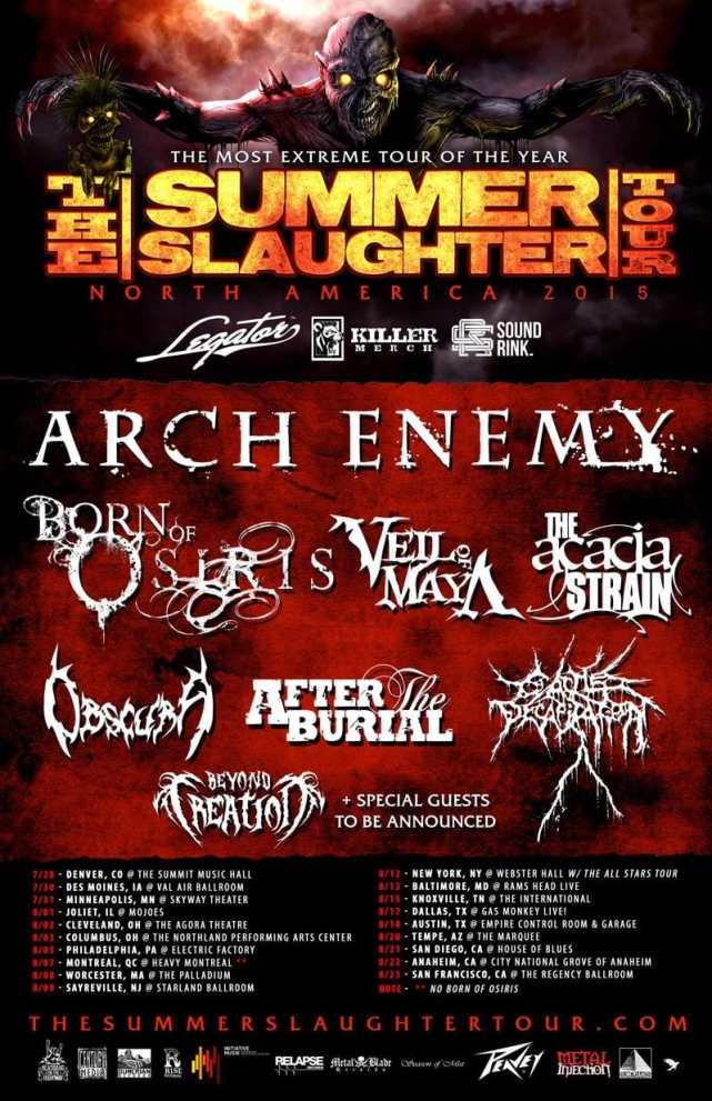 Summer Slaughter tour poster