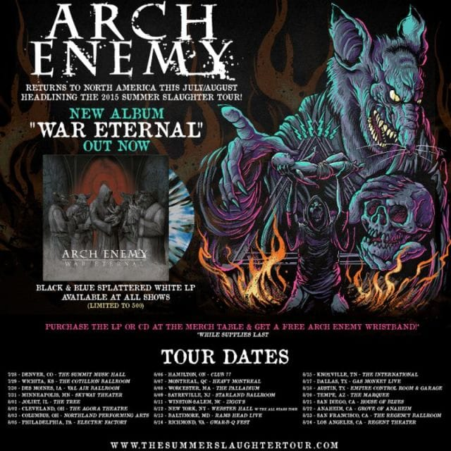 Arch Enemy tour post