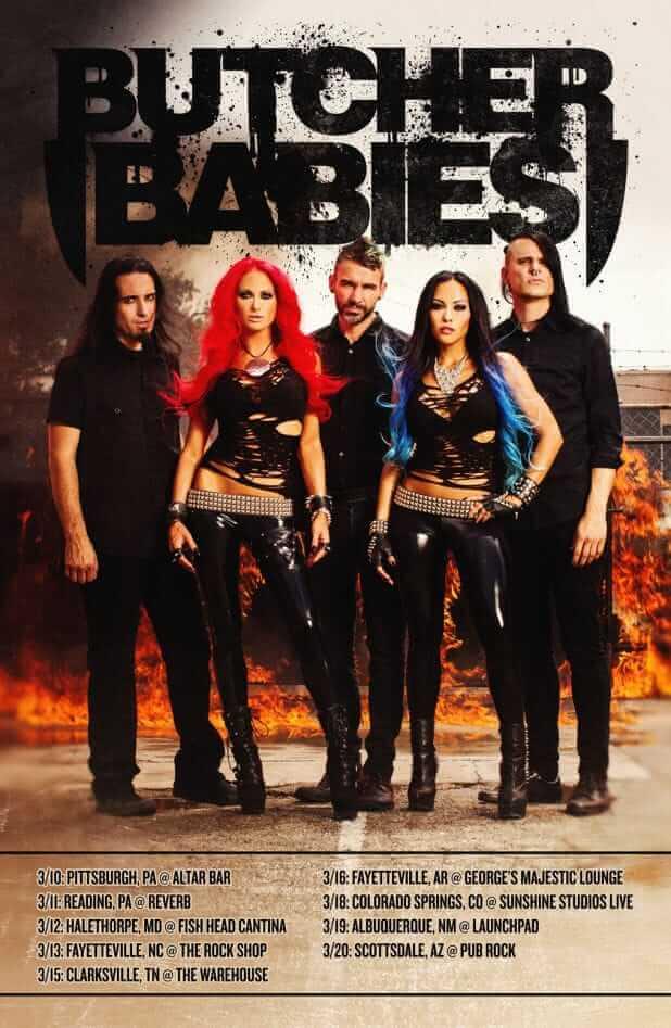 Butcher Babies headlining tour 2016