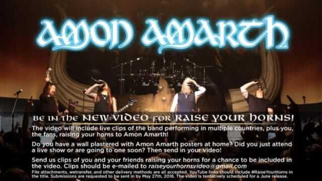 Amon Amarth raise your horns