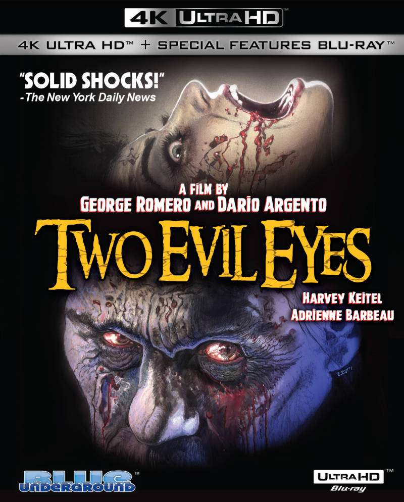 Blue Underground to Release TWO EVIL EYES (4K UHD Blu-ray) This August - Horror Society