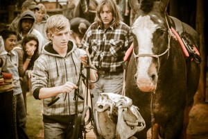 Equine Educational Programme - learning about saddling a horse
