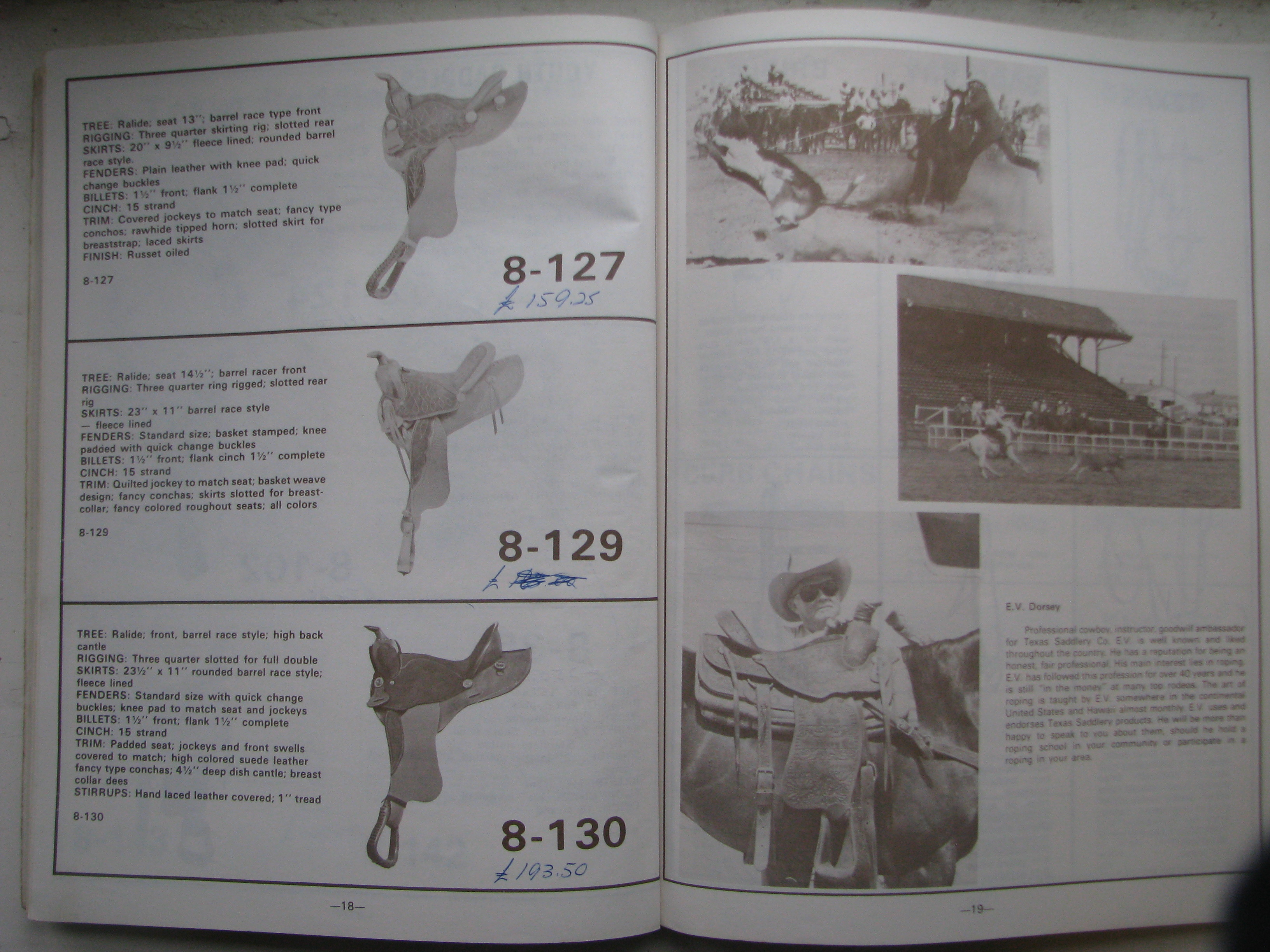 Texas Saddlery Co catalogue, western saddle