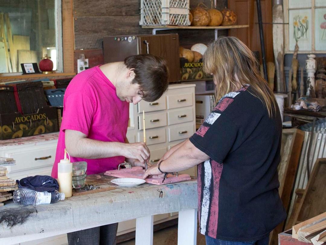 Kaleb & Diane stenciling