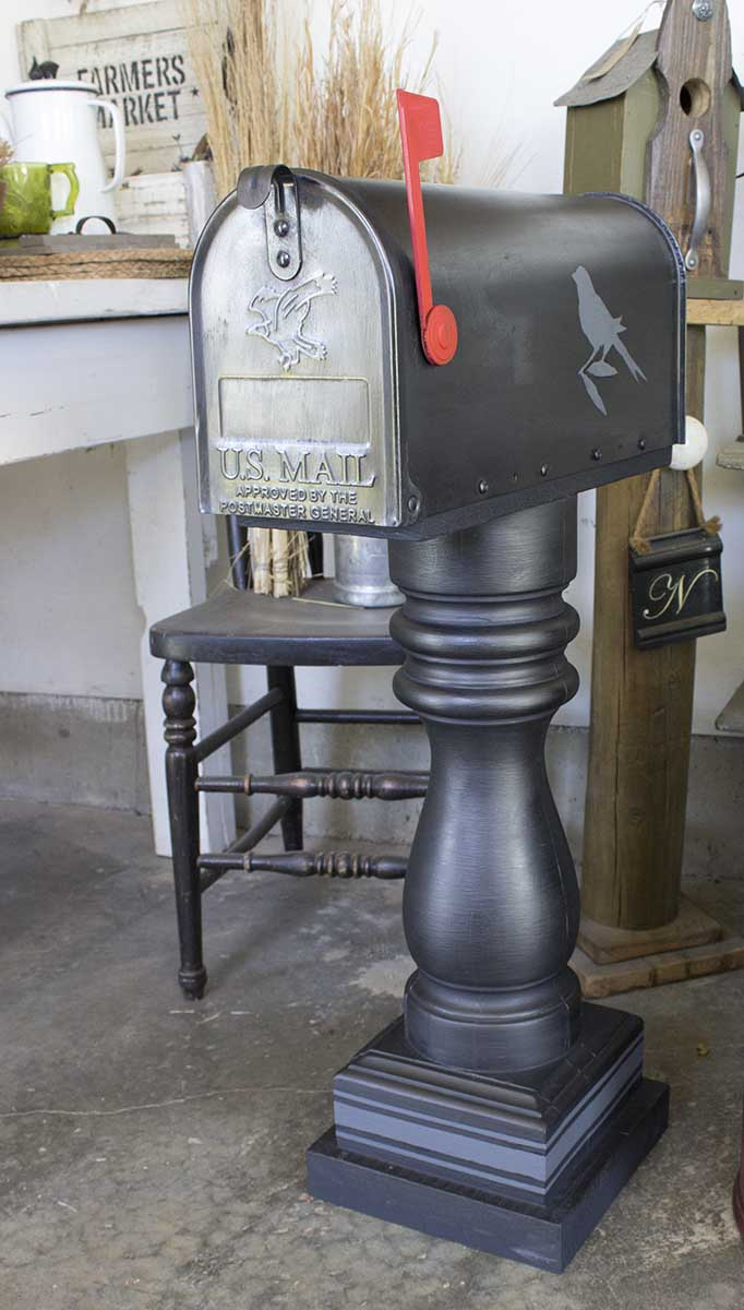 Dark Metallic Mailbox