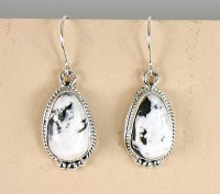 Authentic Native American White Buffalo Stone Earrings ...