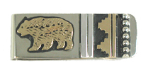 Gold and Sterling Silver Navajo Money Clips and Key Rings