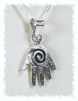 Native American Navajo Sterling Silver  hand Pendant