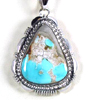 Native American Natural Turquoise Pendant