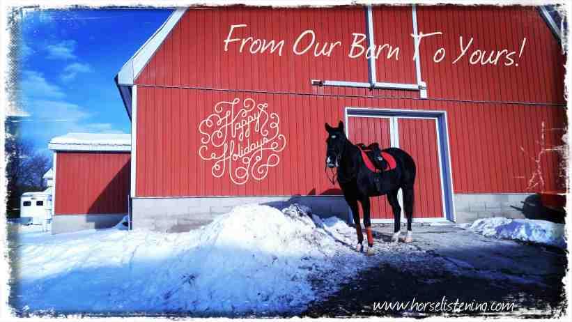 horse listening christmas