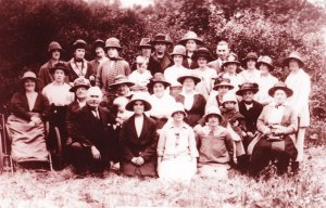 Group from the Mission Hall with Mr Swallow, circa 1924