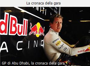 La cronaca del GP di Abu Dhabi 2013