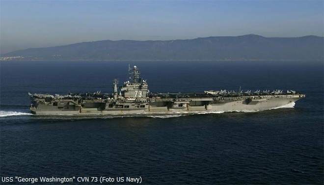 """Portaerei nucleare """"George Washington"""" CVN-73 Classe Nimitz, Settima Flotta del Pacifico"""