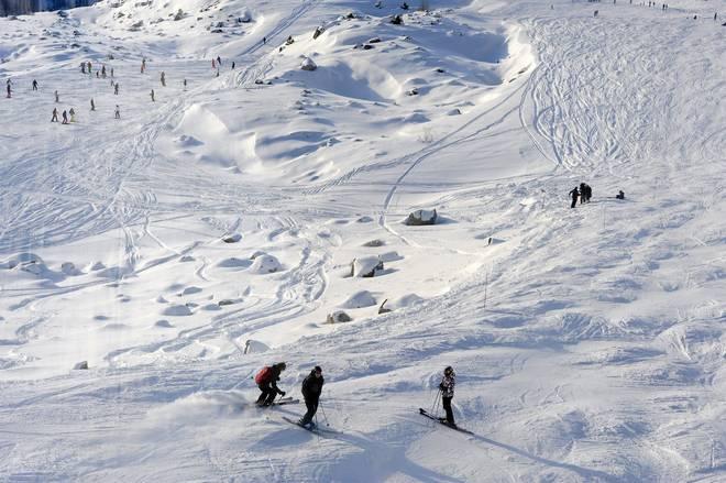 """Il luogo dell'incidente a Schumacher (Foto de """"Il Messaggero"""")"""