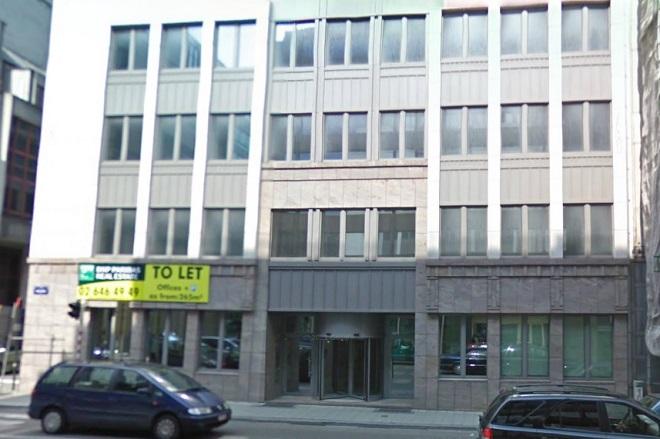 L'ingresso della sede dell'Ufficio della Regione Siciliana a Bruxelles, in Rue Belliard, 12