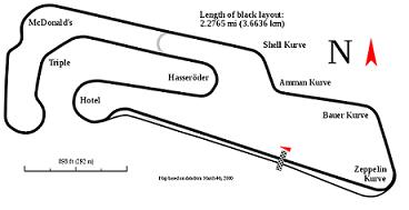 Il tracciato del Motorsport Arena di Oschersleben