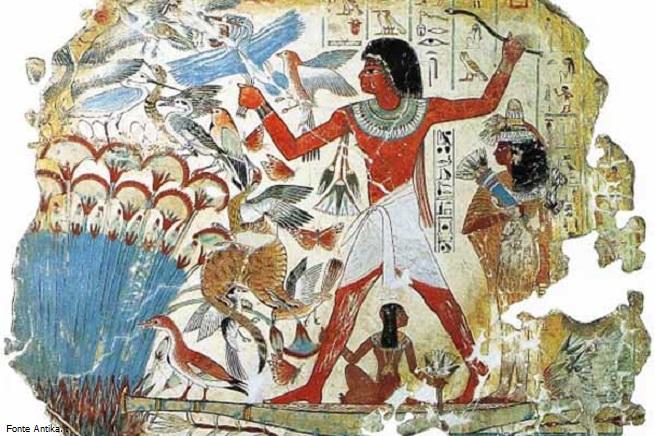 Scena di uccellagione (Fonte Antika.it)