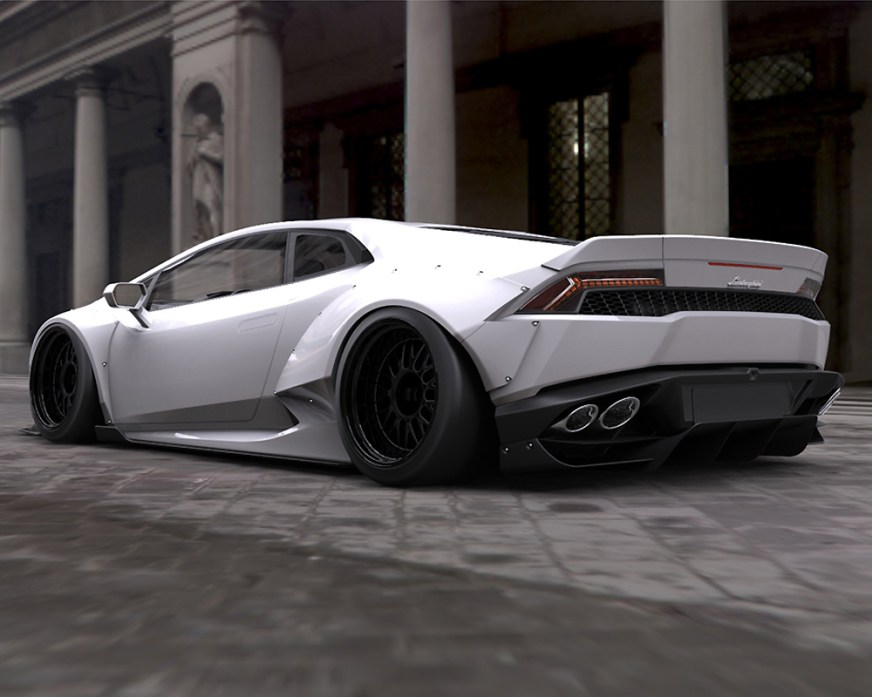 LIberty Walk Complete Body Kit Version I CFRP Lamborghini ...