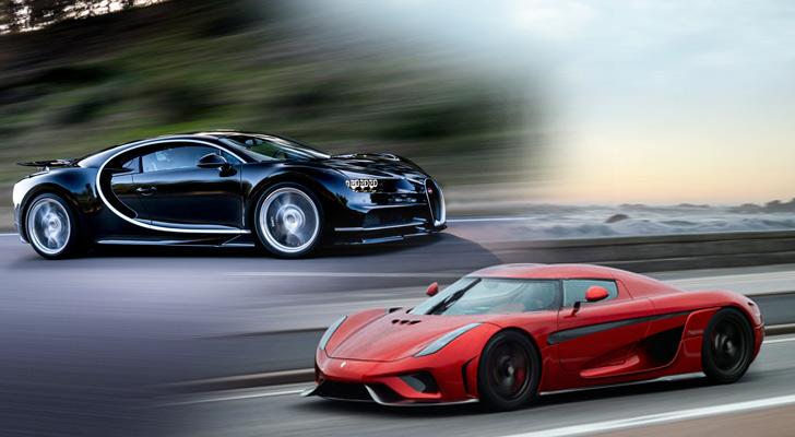 Bugatti Chiron vs Koenigseg