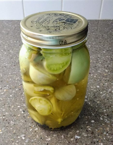 Pickled Green Tomatoes | Horseradish & Honey