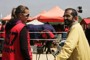 Heather Reynolds and HH Sheikh Mohammed bin Rashid Al Maktoum