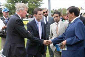 Richard Lancaster greets HH Sheikh Hamdan