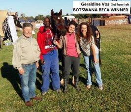 Geraldine Voss Botswana BECA winner