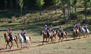 Lady riders compete in Spain