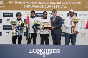 Winners of the CEI3 HHShMohammedBinRashidEndurance Ride