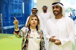 Lara Sawaya with Dr. Thani Bin Ahmed Al-Zeyoudi