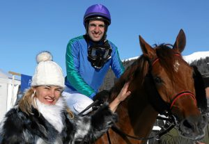 Dynamites with Karin Van den Bos and jockey Maxim Pecheur