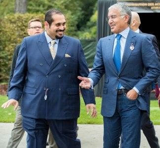 HH Sheikh Abdullah bin Khalifa AL Thani and QREC CEO Mr.Nasser Sherida Al Kaabi at Longchamp