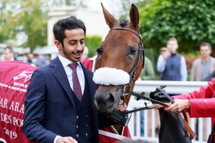 Lady Princess wins Qatar Arabian Trophy Des Pouliches Gr.1PA in Saint Cloud 04/10/2019, photo: Zuzanna Lupa