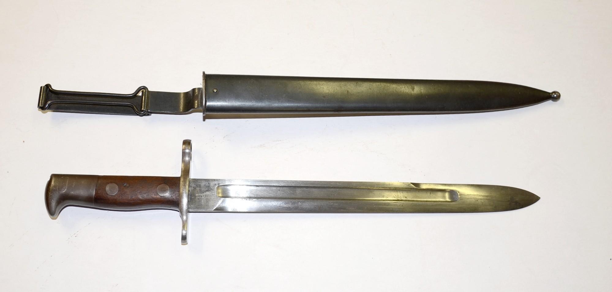 M1898 U S KRAG JORGENSEN BAYONET DATED 1898 WITH US