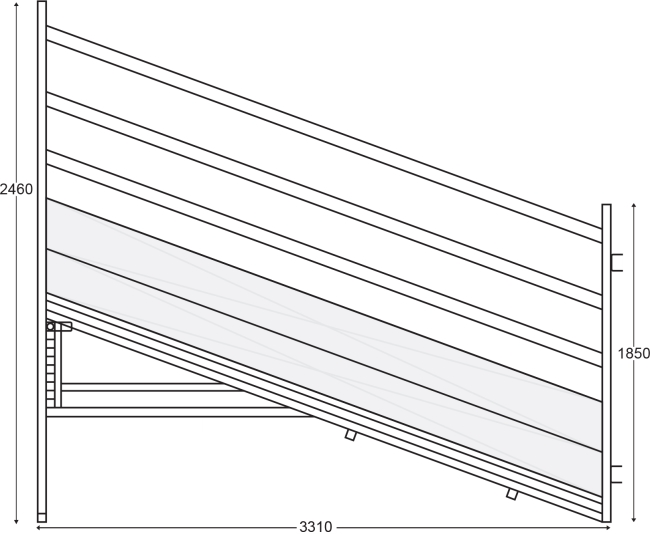 Hot Dip Galvanized 4m Sheep Loading Ramp Plans Corrosion