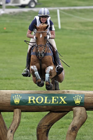 Teddy and Karen O'Connor on the cross-country at this year's Rolex Kentucky CCI4* Event.