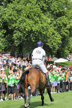 Hundreds of schoolchildren saw eventing and horses up close for the first time at London 2012.