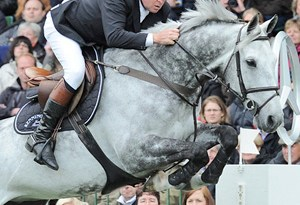 Nick Skelton and Carlo.
