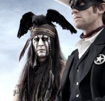 Johnny Depp in a scene from The Lone Ranger, which is due for release next year.